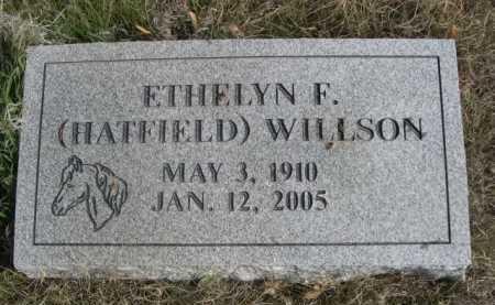 HATFIELD WILLSON, ETHELYN F. - Dawes County, Nebraska   ETHELYN F. HATFIELD WILLSON - Nebraska Gravestone Photos