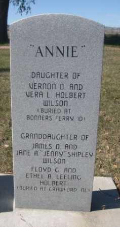 WILSON, ANNIE - Dawes County, Nebraska | ANNIE WILSON - Nebraska Gravestone Photos