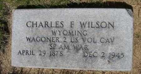 WILSON, CHARLES F. - Dawes County, Nebraska   CHARLES F. WILSON - Nebraska Gravestone Photos