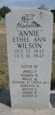 """WILSON, ETHEL ANN """"ANNIE"""" - Dawes County, Nebraska   ETHEL ANN """"ANNIE"""" WILSON - Nebraska Gravestone Photos"""