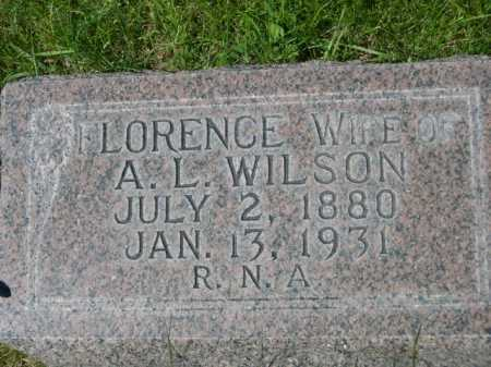 WILSON, FLORENCE - Dawes County, Nebraska | FLORENCE WILSON - Nebraska Gravestone Photos