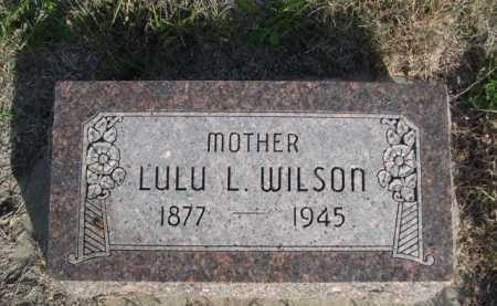 WILSON, LULU L. - Dawes County, Nebraska | LULU L. WILSON - Nebraska Gravestone Photos