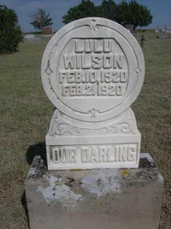 WILSON, LULU - Dawes County, Nebraska | LULU WILSON - Nebraska Gravestone Photos