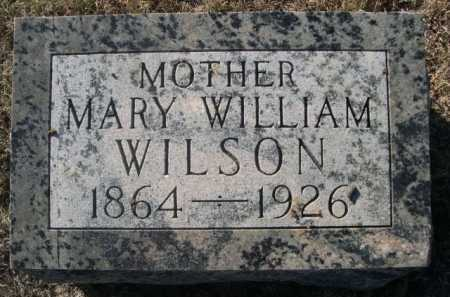 WILSON, MARY WILLIAM - Dawes County, Nebraska | MARY WILLIAM WILSON - Nebraska Gravestone Photos