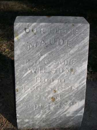 WILSON, MAUDE - Dawes County, Nebraska | MAUDE WILSON - Nebraska Gravestone Photos