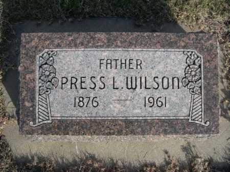 WILSON, PRESS L. - Dawes County, Nebraska | PRESS L. WILSON - Nebraska Gravestone Photos