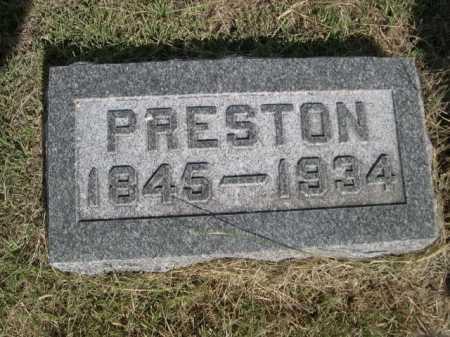 WILSON, PRESTON - Dawes County, Nebraska | PRESTON WILSON - Nebraska Gravestone Photos
