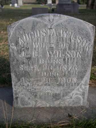 WILSON, S. AUGUSTA - Dawes County, Nebraska   S. AUGUSTA WILSON - Nebraska Gravestone Photos