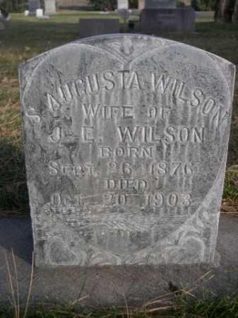 WILSON, S. AUGUSTA - Dawes County, Nebraska | S. AUGUSTA WILSON - Nebraska Gravestone Photos