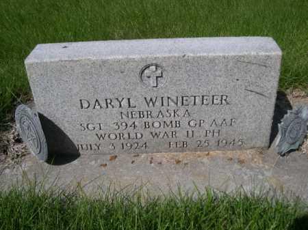 WINETEER, DARYL - Dawes County, Nebraska | DARYL WINETEER - Nebraska Gravestone Photos