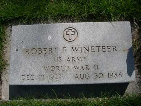 WINETEER, ROBERT F. - Dawes County, Nebraska   ROBERT F. WINETEER - Nebraska Gravestone Photos