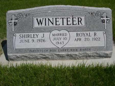 WINETEER, SHIRLEY J. - Dawes County, Nebraska | SHIRLEY J. WINETEER - Nebraska Gravestone Photos