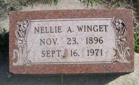 WINGET, NELLIE A. - Dawes County, Nebraska | NELLIE A. WINGET - Nebraska Gravestone Photos
