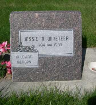 WINETEER, JESSIE M. - Dawes County, Nebraska   JESSIE M. WINETEER - Nebraska Gravestone Photos