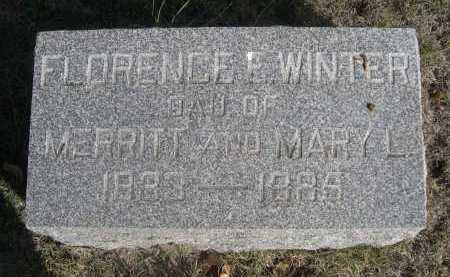 WINTER, FLORENCE E. - Dawes County, Nebraska | FLORENCE E. WINTER - Nebraska Gravestone Photos