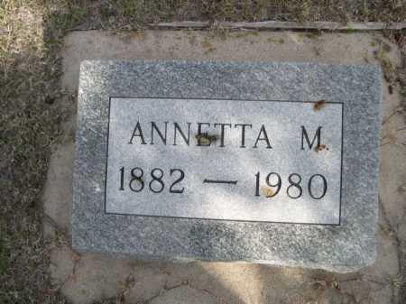 WIPPLE, ANNETTA M. - Dawes County, Nebraska | ANNETTA M. WIPPLE - Nebraska Gravestone Photos