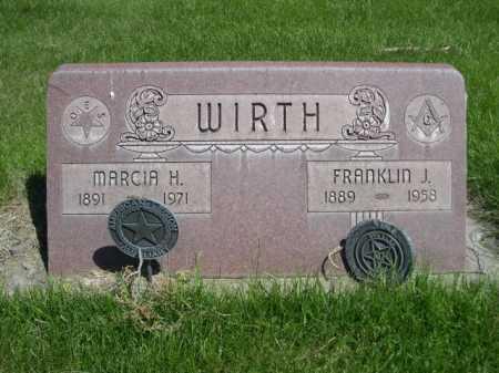 WIRTH, FRANKLIN J. - Dawes County, Nebraska | FRANKLIN J. WIRTH - Nebraska Gravestone Photos