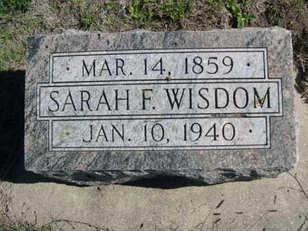 WISDOM, SARAH F. - Dawes County, Nebraska | SARAH F. WISDOM - Nebraska Gravestone Photos