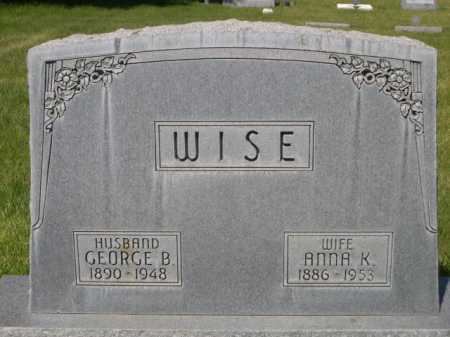 WISE, GEORGE B. - Dawes County, Nebraska | GEORGE B. WISE - Nebraska Gravestone Photos
