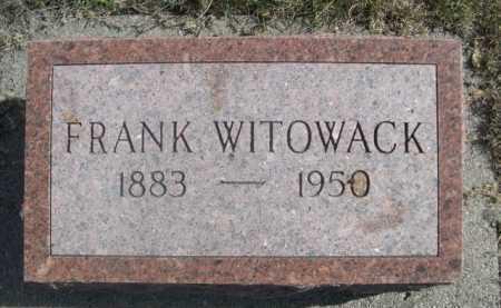 WITOWACK, FRANK - Dawes County, Nebraska   FRANK WITOWACK - Nebraska Gravestone Photos
