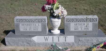 WITT, ARTHUR H. - Dawes County, Nebraska | ARTHUR H. WITT - Nebraska Gravestone Photos