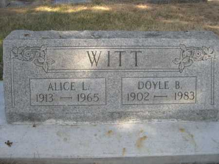 WITT, ALICE L. - Dawes County, Nebraska | ALICE L. WITT - Nebraska Gravestone Photos