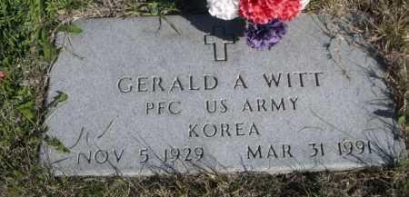 WITT, GERALD A. - Dawes County, Nebraska | GERALD A. WITT - Nebraska Gravestone Photos