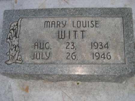 WITT, MARY LOUISE - Dawes County, Nebraska   MARY LOUISE WITT - Nebraska Gravestone Photos