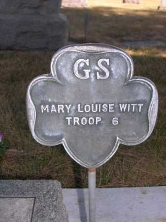 WITT, MARY LOUISE - Dawes County, Nebraska | MARY LOUISE WITT - Nebraska Gravestone Photos