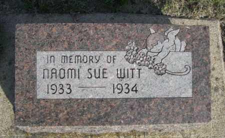 WITT, NAOMI SUE - Dawes County, Nebraska   NAOMI SUE WITT - Nebraska Gravestone Photos