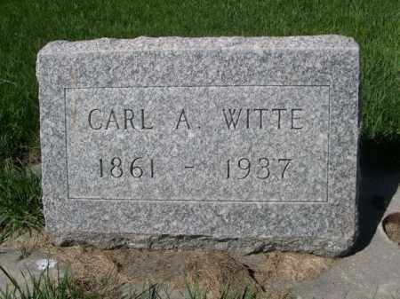 WITTE, CARL A. - Dawes County, Nebraska   CARL A. WITTE - Nebraska Gravestone Photos