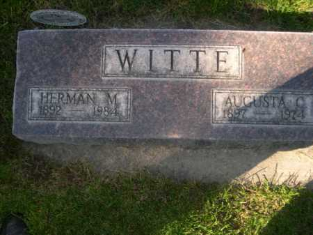 WITTE, AUGUSTA C. - Dawes County, Nebraska | AUGUSTA C. WITTE - Nebraska Gravestone Photos