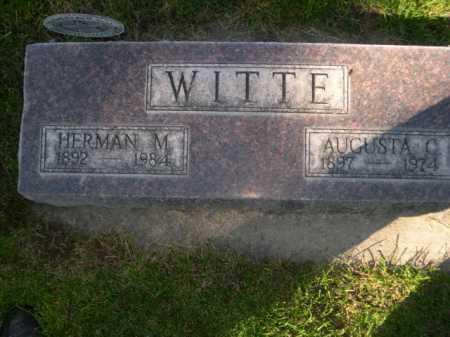 WITTE, HERMAN M. - Dawes County, Nebraska | HERMAN M. WITTE - Nebraska Gravestone Photos