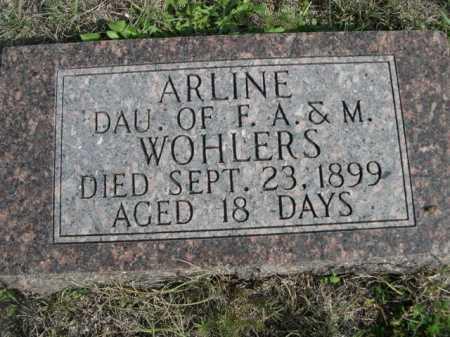 WOHLERS, ARLINE - Dawes County, Nebraska | ARLINE WOHLERS - Nebraska Gravestone Photos