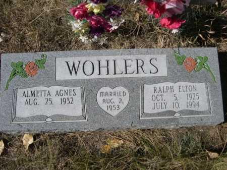 WOHLERS, ALMETTA AGNES - Dawes County, Nebraska | ALMETTA AGNES WOHLERS - Nebraska Gravestone Photos