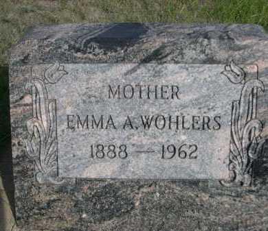 WOHLERS, EMMA A. - Dawes County, Nebraska | EMMA A. WOHLERS - Nebraska Gravestone Photos