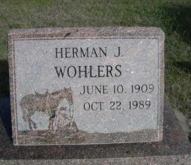 WOHLERS, HERMAN J. - Dawes County, Nebraska   HERMAN J. WOHLERS - Nebraska Gravestone Photos
