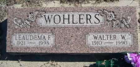 WOHLERS, WALTER W. - Dawes County, Nebraska | WALTER W. WOHLERS - Nebraska Gravestone Photos