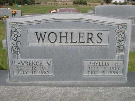 WOHLERS, LAWRENCE W. - Dawes County, Nebraska | LAWRENCE W. WOHLERS - Nebraska Gravestone Photos