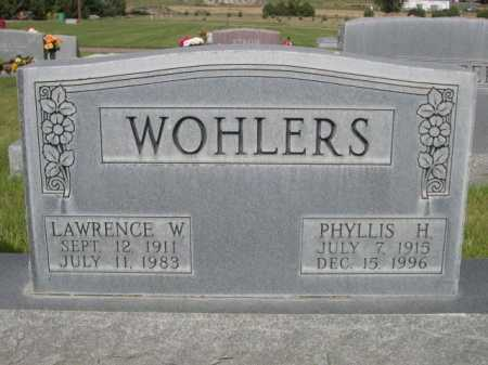 WOHLERS, LAWRENCE W. - Dawes County, Nebraska | LAWRENCE W. WOHLERS - Nebraska Gravestone Photos