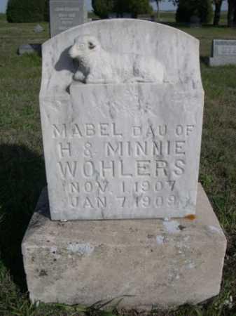 WOHLERS, MABEL - Dawes County, Nebraska | MABEL WOHLERS - Nebraska Gravestone Photos