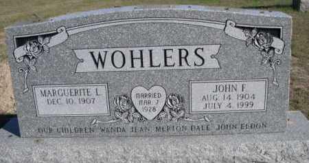 WOHLERS, JOHN F. - Dawes County, Nebraska | JOHN F. WOHLERS - Nebraska Gravestone Photos