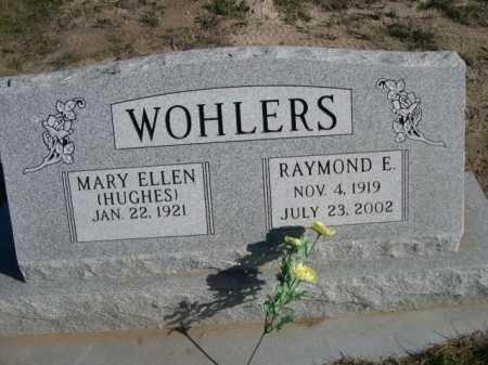 HUGHES WOHLERS, MARY ELLEN - Dawes County, Nebraska | MARY ELLEN HUGHES WOHLERS - Nebraska Gravestone Photos