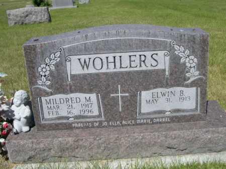 WOHLERS, ELWIN B. - Dawes County, Nebraska | ELWIN B. WOHLERS - Nebraska Gravestone Photos