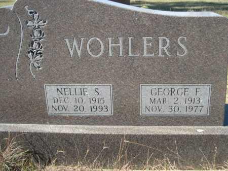 WOHLERS, GEORGE F. - Dawes County, Nebraska   GEORGE F. WOHLERS - Nebraska Gravestone Photos