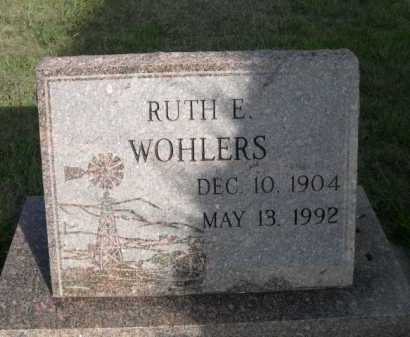 WOHLERS, RUTH E - Dawes County, Nebraska | RUTH E WOHLERS - Nebraska Gravestone Photos