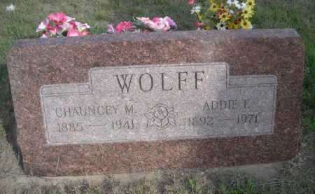 WOLFF, CHAUNCEY M. - Dawes County, Nebraska | CHAUNCEY M. WOLFF - Nebraska Gravestone Photos