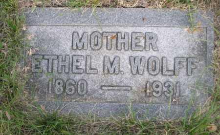 WOLFF, ETHEL M. - Dawes County, Nebraska | ETHEL M. WOLFF - Nebraska Gravestone Photos