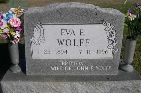 WOLFF, EVA E. - Dawes County, Nebraska | EVA E. WOLFF - Nebraska Gravestone Photos