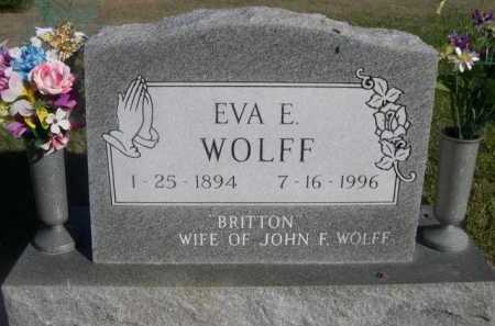 BRITTON WOLFF, EVA E. - Dawes County, Nebraska   EVA E. BRITTON WOLFF - Nebraska Gravestone Photos